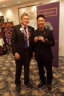 Danny Leung receiving 10- year Award